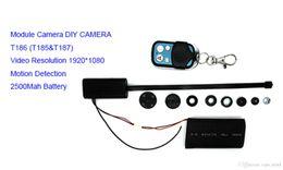 2016 caméra pour la sécurité cctv 2016 Vente chaude originale T186 Full HD 1080P caméras de sécurité mini caméra DV Caméra espion cachée CCTV DVR caméscopes 3000mah budget caméra pour la sécurité cctv