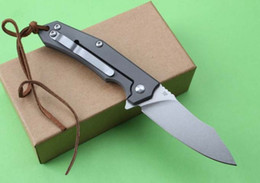 Thomas City Hunter (titanium handle knives) folding camping hunting knife folding knife D2 zt 1pcs free shipping
