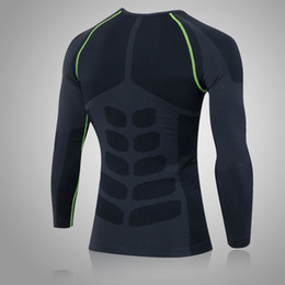 2016 new men quick dry compression tight wear training sports fitness gym exercise running bodybuilding long sleeve t shirt