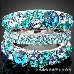 2016 New luxury rings for Women crystal party jewelry ring Bijouterie platinum plated ring exaggerate accessories bijoux ring