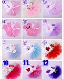 Hot Sale Cartoon Baby Girls Infant Toddler Tutu 3PCS Outfits Lace Birthday Cupcake Romper + Tutu Skirt + Handmade Crochet Headband
