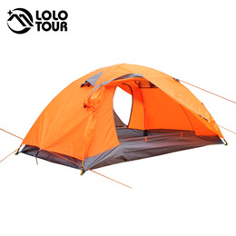 Wholesale Outdoor Lightweight people tent double layer fishing pergola awning Waterproof Hiking Travel tenda Portable camping equipment
