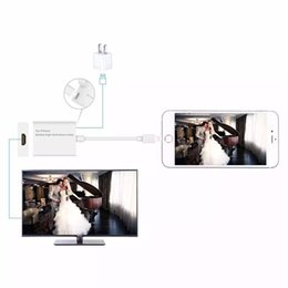 Wholesale Mobile High Definition Cable HDMI HDTV Cable Adapter Dock phone accessores iPhone s s Plus iPad Mini Air