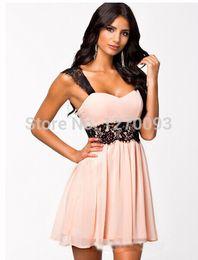 2016 New Summer Women Sexy Backless Dress Sleeveless Strapless Floral Lace Splice Pink Mini Dress Women Clubwear Free Shipping
