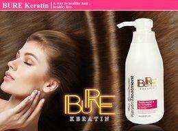 Salones para alisar el cabello en venta-Venta caliente BURE 300ml enderezando el producto del pelo Queratina del pelo para el tratamiento del pelo rizado profundo para el tratamiento del pelo de la queratina del salón