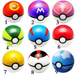Wholesale ABS style Poke Action Anime Figures cm pikachu figure PokeBall Fairy Elf Ball Super Ball poke Ball Kids Toys Gift EMS shipping E835