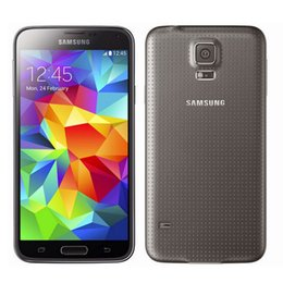 Wholesale Original Samsung Galaxy S5 G900A Cell Phone Fingerprint Scanner Inch IPS Screen GB RAM GB ROM MP Camera AT T GSM Unlocked