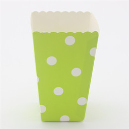 Free Shipping Polka Dot Popcorn Box Event & Party Supplies eco craft paper Candy Box 120pcs(10packs MIX)