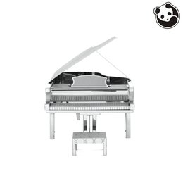 Wholesale Pandamodel MUSICAL INSTRUMENTS D Metal Model Puzzles GRAND PIANO Chinese Metal Earth Stainless Steel Creative Gifts ICONX