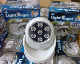 Wholesale New Light Angel Cordless Motion Activated Sensor Light Degree Rotable LED Lamp Automatic Sensor Small Night Light Wall Lamp