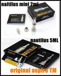 Wholesale cheapest Authentic original Genuine aspire nautilus mini tank kits ml ml atomizer Vaporizer aspire nautilus coils dhl