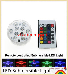 Wholesale LED Submersible Light Color Changeable Coaster Waterproof Cup Mat with Key IR Remote Controller