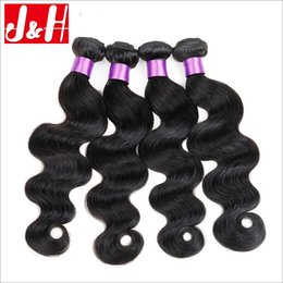Wholesale 4 Bundles Brazilian Hair Peruvian Hair Malaysian Hair Human Hair Extensions A Virgin Hair Weave Weave Body Wave Hair Product
