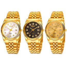 Wholesale BOSCK Bai poem Gold Gold watches male couple Ms titanium plating gold watch gift