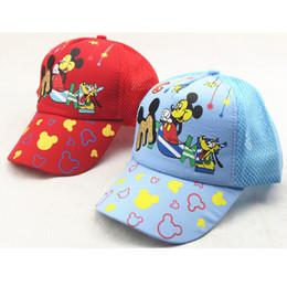 Wholesale 2016 children s summer color Minnies mouse cap cute baby Minnies mouse shade net cap children s hip hop hat