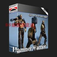 Wholesale Dexsoft Hammer Warrior animated with animation warrior role model