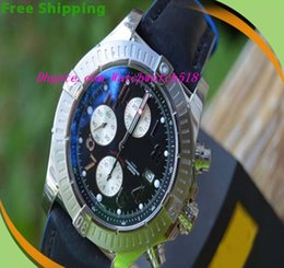 Wholesale Equipped Original Box Luxury Wristwatch Brand BB Super Avenger A13370 Black Face Arabic Numbers Blue Black Strap Mens Men s Watch Watches