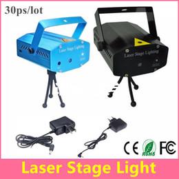 Mini Laser Stage Lighting - Blue Black 150mW Green&Red Laser DJ Party Stage Light Disco Dance Floor Lights