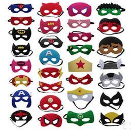 Wholesale Halloween Children Cartoon Animation Mask Fashion Mask Party Superman Batman Flash American Captain Iron man Spider Man style