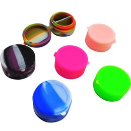 Wholesale Low Price Divided Round Silicone Dab Jar Non stick Bho Concentrate Container Oil Box Dab Ml Silicone Jars