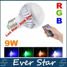 2017 focos de colores Bombilla LED RGB 2016 de la nueva llegada LED RGB E27 GU10 9W CA 85-265V RGB LED de la lámpara con control remoto de múltiples colores rgb llevó la lámpara focos de colores baratos