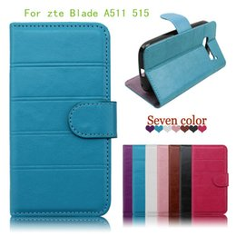 For ZTE Blade L5 plus Blade A511 515 Flip stripes PU Leather wallet case phone cover with credit card slots