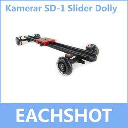 2017 dslr deslizador Kamerar mayor-pista de cámara deslizante del carro del coche SD-1 para la cámara DSLR RIG deslizante Dolly para la grabación de vídeo también para DSLR RIG por mayor dslr deslizador en oferta