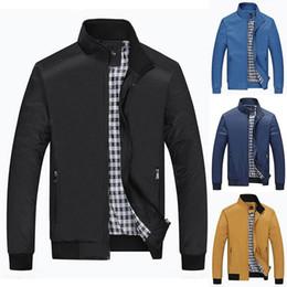 2016 Men Checker Outwear Coat Parka Slim Zip Up Trench Coats Jackets Casual Fashion Jacket winter jacket men brand clothing