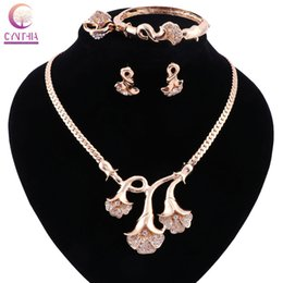 Gold silver plated with earrings bracelet Statement necklace2016 Jewelry sets Trendy Boho crystal women necklace for party wedding