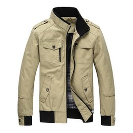 Wholesale 2016 New Autumn Winter Men s Cotton Jackets Stand Collar Mens Jackets Fashion Casual Outerwear for Men Plus Size XL CA114