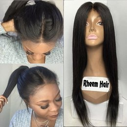 8A Malaysian Silky Straight Silk Base Lace Front Wig 4x4 Silk Top Full Lace Human Hair Wigs Middle Part For Black Women