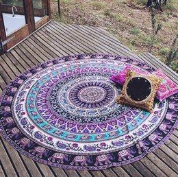 Wholesale Retro fashion Hippie Round Mandala Tapestry Indian Wall Hanging Beach Throw Towel Yoga Mat