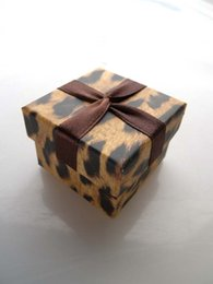 [Simple Seven]Lovers Ring Box Leopard Printing Pedant Box  Fashion Necklace Package  Special Jewelry Case Trend Earring Box with Ribbon