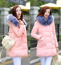 Promotion lignes de capot Fashion Parka Down Femmes Manteau hiver Capuche col de fourrure Casual Femme Thickening Veste longue A-ligne coat outwear