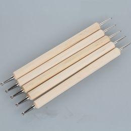 Point Drill Pen Nail Art Suministros Madera Doble Disponible Cinco Juegos Light And Conveniente Uñas desde sistemas de la pluma de madera fabricantes