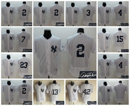 Wholesale Elite New York Yankees Derek Jeter Babe Ruth Lou Gehrig Alex Rodriguez Thurman Munson Customize Stitched Jersey