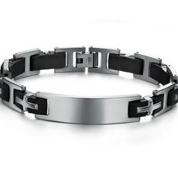 2017 bandas de acero inoxidable enlaces Nueva correa de acero de la pulsera de la pulsera de los hombres del acero inoxidable de la cadena del acoplamiento de la venda 8.5