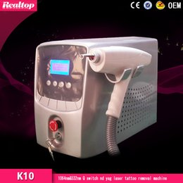 2016 Hot Selling Product More Effective 1064nm & 532nm Q Switch Nd Yag Laser Tattoo Removal Laser Tattoo Removal Device K10