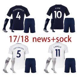17 18 soccer jerseys kids kit ERIKSEN Tottenhames DELE ALLI football shirt 2017 2018 SON KANE Camiseta DEMBELE children suit+sock