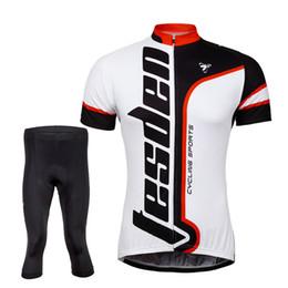 Tasdan Cycling Jerseys Sets Mens Mountain Bike Short Tops and Tights 3 4 Pants Cycling Suits