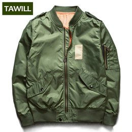 Wholesale TAWILL YOUTH NASA MA FLIGHT Bomber Jacket Army Green Military motorcycle Pilot Air Force Spring Men Jacket Asia Size