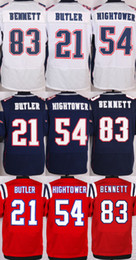Wholesale 2016 Elite Mens Malcolm Butler Martellus Bennett Dont a Hightower Navy Blue Stitched Jerseys Free Drop Shipping