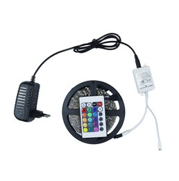 2016 5m RGB 3528 LED strip DC12V Led light 300leds not waterproof Light Flexible Ribbon Tape 24 Key controller +power adapter