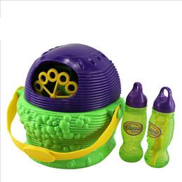 Wholesale Electronic Automatic Bubble Hurricane Machine Blue Color Plastic Bubble Blower Soap Bubbles Baby Toy children Bubble Machine gun toys B001