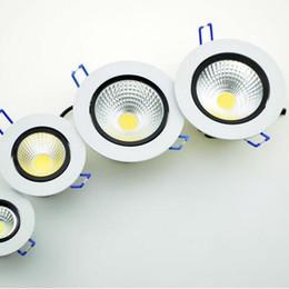 LED Downlight 5W 7W 9W 12W COB Recessed LED Ceiling light Spot Light Lamp 220V White  warm white FREE shipping