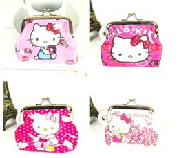 new 10pcs mixed beautiful pink kitty cartoon pvc coin purses girl's party gift