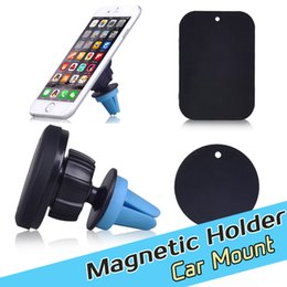 Wholesale 360 degree rotation Magnetic magnet Car Air Vent Mount Mobile Phone Holder For iphone s Samsung Cd Slot Clip Bracket Sticky