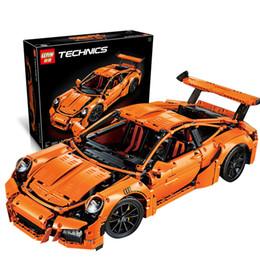 Wholesale 2704pcs LEPIN technic series Porsche GT3 RS Model Building Kits Minifigures Blocks Bricks Compatible With legoe boy gift