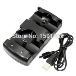 2017 xbox dual El más nuevo cargador dual USB estación de carga del muelle para Sony PS3 Move controlador inalámbrico (Negro), cargador de ThinkPad xbox dual en venta