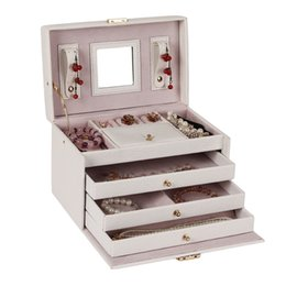 Wholesale Necklace Ring Storage Case Armoire Organizer White Large Vintage Jewelry Box